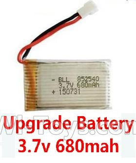 Wltoys F949 Upgrade Battery-Upgrade 3.7v 680mah battery-Fly more time,more power Parts-1pcs