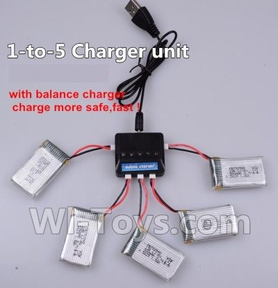 Wltoys F949 Upgrade 1-to-5 charger and balance charger(Not include the 5 battery) Parts