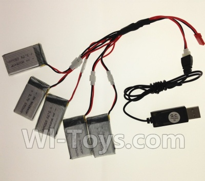 Wltoys F949 USB Charger wire & Upgrade 1-to-5 Conversion wire((Not include the 5 battery) Parts