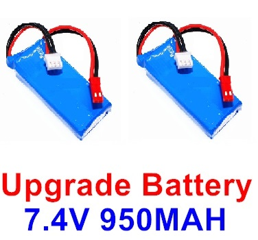 Wltoys F500 Upgrade Battery Parts-7.4V 900mah Battery Parts(2pcs)-Size-59X29.5X14mm-X520.0013,Wltoys F500 Parts