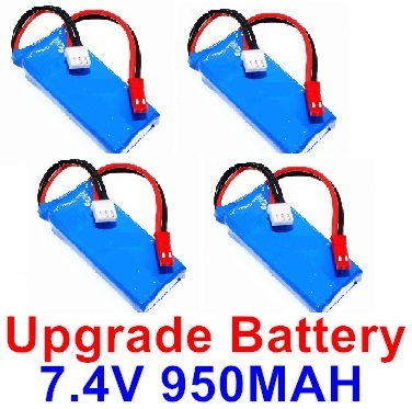 Wltoys F500 Upgrade 7.4V 1000mah Battery Parts(4pcs)-Size-59X29.5X14mm,Wltoys F500 Parts