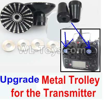 Wltoys F500 Upgrade Metal Trolley for the Transmitter-Black(Can be used for XK A1200)-X520.0014,Wltoys F500 Parts