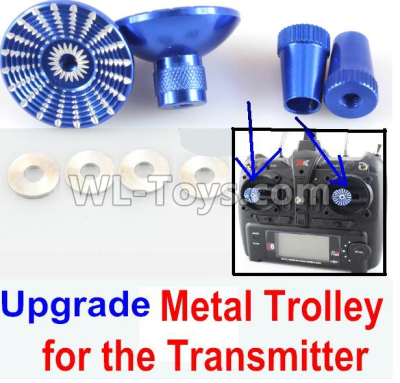 Wltoys F500 Upgrade Metal Trolley for the Transmitter-Blue(Can be used for XK A600)-X520.0014,Wltoys F500 Parts