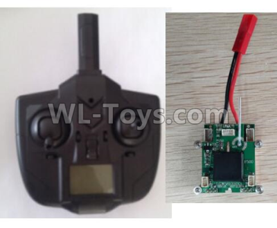 Wltoys F500 X4 Small Version Transmitter and Circuit board together-X520.0015-01,Wltoys F500 Parts