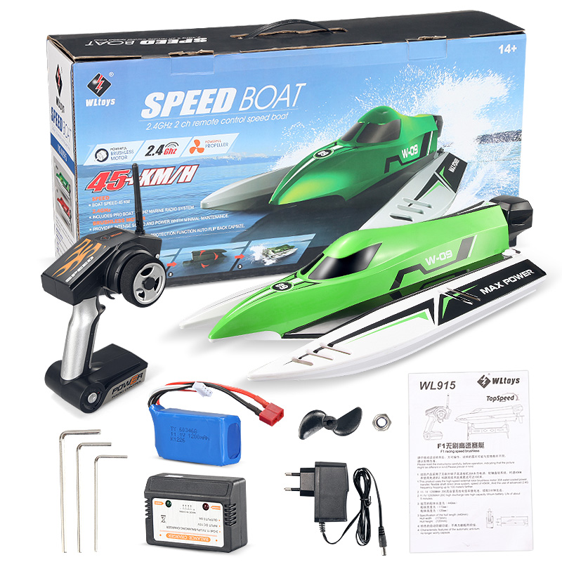 Wltoys WL915 rc Boat,Wltoys WL915 RC Racing Boat Model(Brushless RC Boat)-Green Color-Boat-all