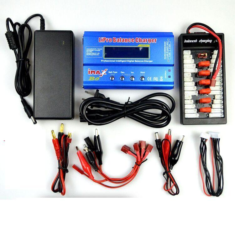 Wltoys WL915 Parts-Upgrade Charger unit,Can charger 6x battery at the same time(Power & B6 Charger & 1-To-6 Parallel charging Board),Wltoys WL915 Boat Parts