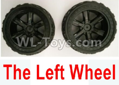 Wltoys 10402 The whole Left wheel(2 set-Include the Wheel hub and Tire lether)-10402.0855,Wltoys 10402 Parts