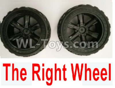 Wltoys 10402 The whole Right wheel(2 set-Include the Wheel hub and Tire lether)-10402.0856,Wltoys 10402 Parts