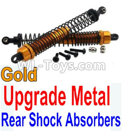 Wltoys 10402 Upgrade Metal Rear Shock Absorbers(2pcs)-Gold,Wltoys 10402 Parts
