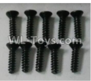 Wltoys 10402 Cross countersunk head tapping screw(10pcs)-ST3X12KB-D5.5-10402.0872,Wltoys 10402 Parts