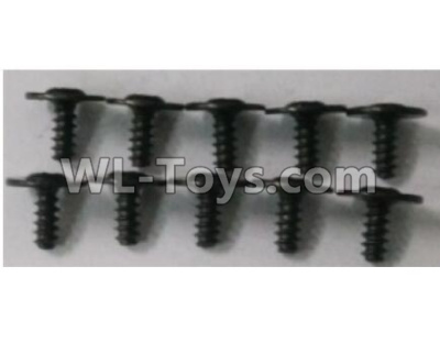 Wltoys 10402 10402.0878 Round head cross with self-tapping screws Parts(10pcs)-ST2.6x6PWB7,Wltoys 10402 Parts