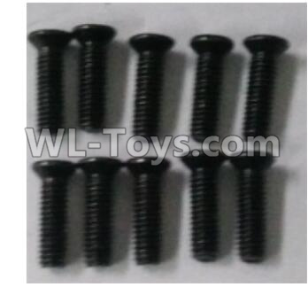 Wltoys 10402 10402.0881 Cross countersunk head screw(10pcs)-2.5X9KM-D4.0,Wltoys 10402 Parts