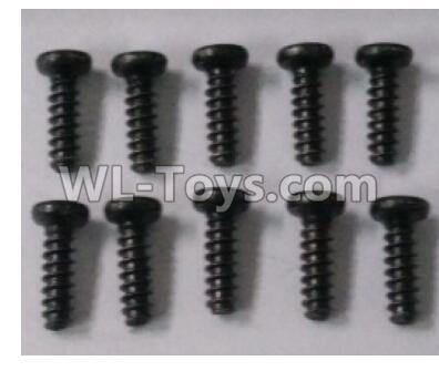 Wltoys 10402 12401.0254 Round head self tapping screw(10pcs)-ST2.5X8PWM-W6,Wltoys 10402 Parts