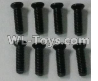 Wltoys 10402 12428.0114 Cross countersunk head screw(8pcs)-2.5X8KM-D4.5,Wltoys 10402 Parts