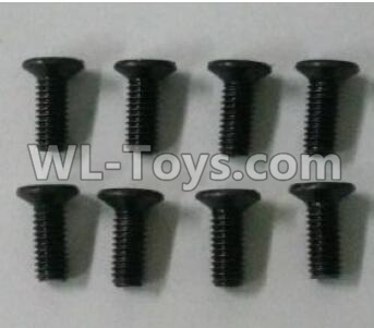 Wltoys 10402 12428.0117 Cross countersunk head screw(8pcs)-3X8KM-D5.5,Wltoys 10402 Parts
