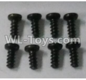 Wltoys 10402 18428-B.0554 Round head screw(8pcs)-ST2.3x4PB-D3.5,Wltoys 10402 Parts