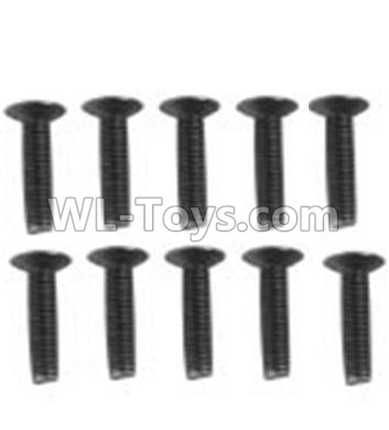 Wltoys 10428-B2 Countersunk head inner hexagon Screws-M3X16-Black zinc plated(10PCS)-A929-60,Wltoys 10428-B2 Parts