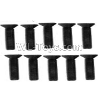 Wltoys 10428-B2 Countersunk head inner hexagon Screws-M3X12-Black zinc plated(10PCS)-A929-61,Wltoys 10428-B2 Parts