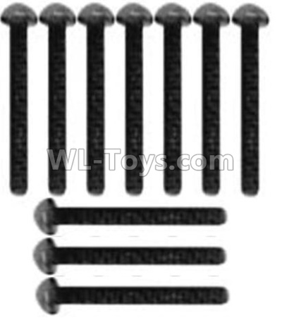 Wltoys 10428-B2 Pan head inner hexagon Screws-M3X14-Black zinc plated(10PCS)-A929-73,Wltoys 10428-B2 Parts