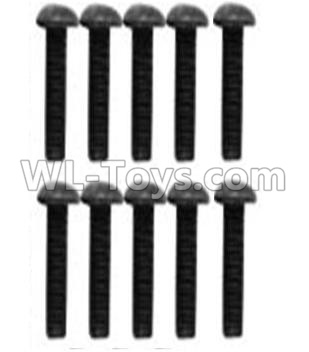 Wltoys 10428-B2 Pan head inner hexagon Screws-M3X10-Black zinc plated(10PCS)-A929-75,Wltoys 10428-B2 Parts