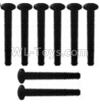 Wltoys 10428-B2 Pan head inner hexagon Screws-M3X21-Black zinc plated-M3X25(8PCS)-K939-62,Wltoys 10428-B2 Parts
