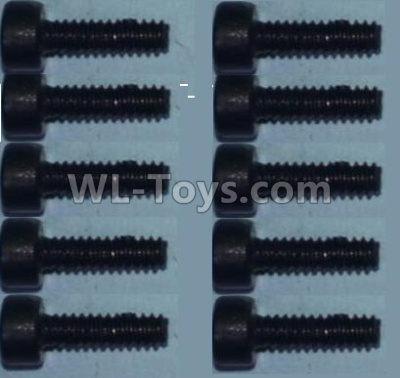 Wltoys 10428-B2 Cup head inner hexagon Screws-M2X8-(10pcs)-0334,Wltoys 10428-B2 Parts