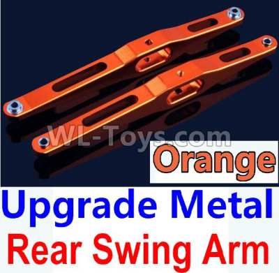 Wltoys 10428-B2 Upgrade Metal Rear Swing Arm-Orange-2pcs-K949-29,Wltoys 10428-B2 Parts