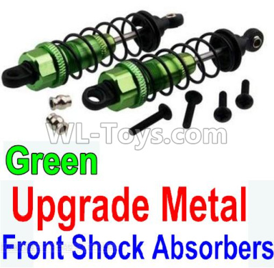 Wltoys 10428-B2 Upgrade Metal Front Shock Absorbers(2pcs)-Green,Wltoys 10428-B2 Parts
