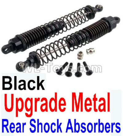 Wltoys 10428-B2 Upgrade Metal Rear Shock Absorbers(2pcs)-Black,Wltoys 10428-B2 Parts