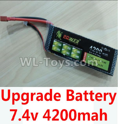 Wltoys 10428-B2 Upgrade Battery,7.4v 4200mah battery with T-shape plug,Wltoys 10428-B2 Parts