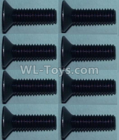 Wltoys 10428-B2 Flat head inner hexagon Screws-M3X10-(8pcs),Wltoys 10428-B2 Parts