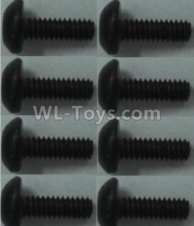 Wltoys 10428-B2 Pan head inner hexagon Screws-M2X6-(8pcs),Wltoys 10428-B2 Parts