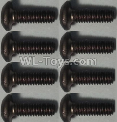 Wltoys 10428-B2 Pan head inner hexagon Screws-M2.5X6-(8pcs),Wltoys 10428-B2 Parts