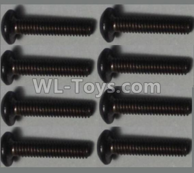Wltoys 10428-B2 Pan head inner hexagon Screws-M2.5X12-(8pcs),Wltoys 10428-B2 Parts