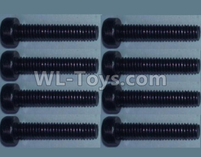 Wltoys 10428-B2 Cup head inner hexagon Screws-M2.5X20-(8pcs),Wltoys 10428-B2 Parts