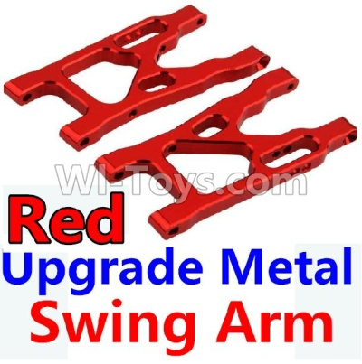 Wltoys 10428-B Upgrade Metal Swing Arm Parts-Red-2pcs,Wltoys 10428-B Parts