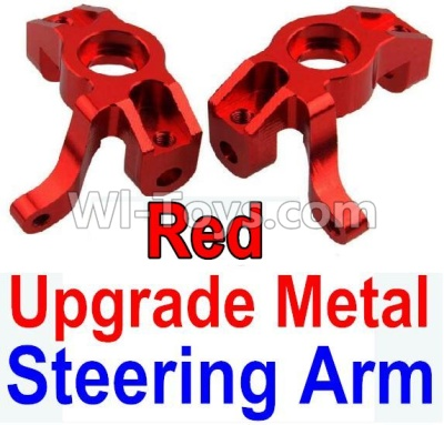 Wltoys 10428-B Upgrade Metal Steering arm Parts-Red-2pcs,Wltoys 10428-B Parts