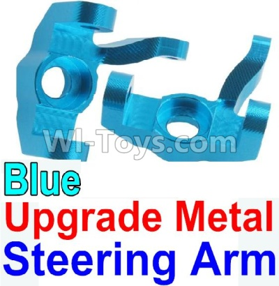 Wltoys 10428-B Upgrade Metal Steering arm Parts-Blue-2pcs,Wltoys 10428-B Parts