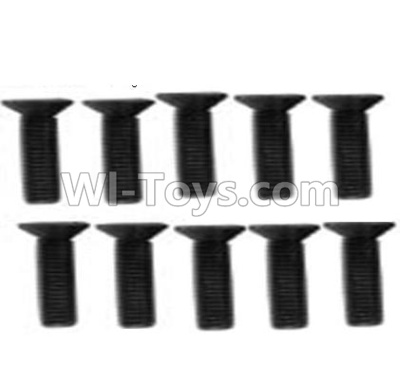 Wltoys 10428-B A929-61 Countersunk head inner hexagon Screws Parts-M3X12-Black zinc plated(10PCS),High speed 1:10 Scale 4wd Racing Truck Car Parts