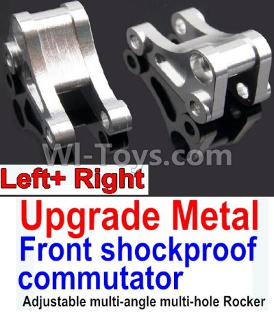 Wltoys 10428-B Upgrade Metal Front shockproof commutator(Left and Right)-Silver,Wltoys 10428-B Parts