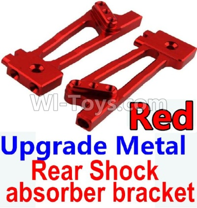 Wltoys 10428-B Upgrade Metal Rear Shock absorber bracket Parts-Red-2pcs,Wltoys 10428-B Parts