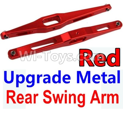 Wltoys 10428-B Upgrade Metal Rear Swing Arm Parts-Red-2pcs,Wltoys 10428-B Parts