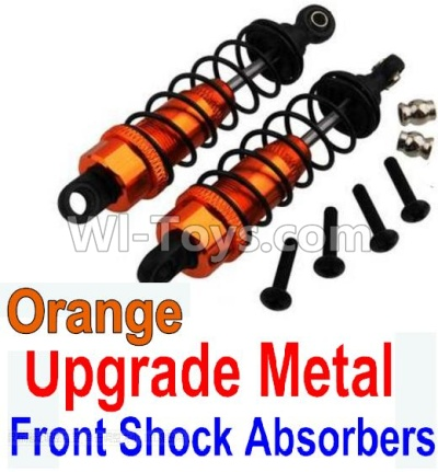 Wltoys 10428-B Upgrade Metal Front Shock Absorbers Parts(2pcs)-Orange,Wltoys 10428-B Parts