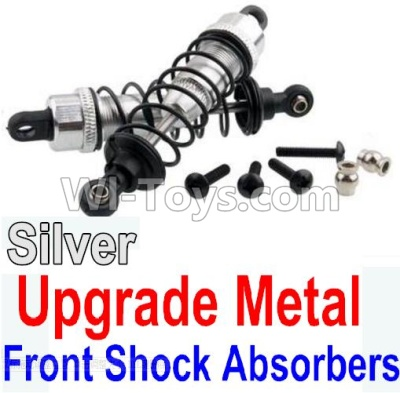 Wltoys 10428-B Upgrade Metal Front Shock Absorbers Parts(2pcs)-Silver,Wltoys 10428-B Parts