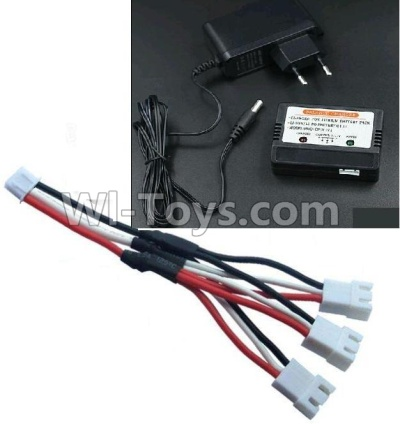 Wltoys 10428-B Upgrade 1-to-3 coversion Charging cable(1pcs) & Charger and Banlance charger,Wltoys 10428-B Parts