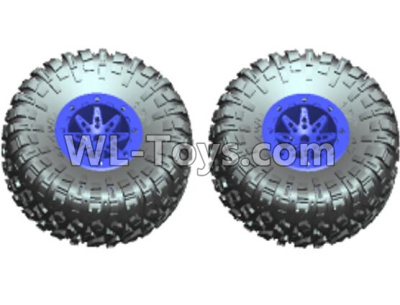 Wltoys 10428-D Wheel unit(2 set)-Blue-10428-D.0689,Wltoys 10428-D 1/10 Parts