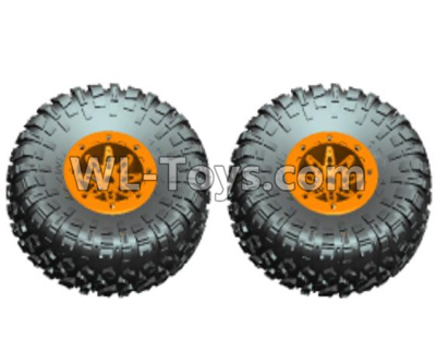 Wltoys 10428-D Wheel unit(2 set)-Orange-10428-D.0690,Wltoys 10428-D 1/10 Parts
