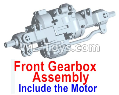 Wltoys 10428-D Front drive gearbox assembly (lithium version)-Include the Motor-10428-D.0698,Wltoys 10428-D 1/10 Parts