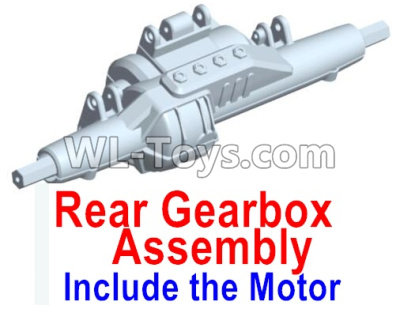 Wltoys 10428-D Rear drive gearbox assembly (lithium version)-Include the Motor-10428-D.0696,Wltoys 10428-D 1/10 Parts