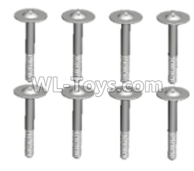 Wltoys 10428-D 2.6x15-PWB W8 screws with lower half tooth(8pcs)-10428-D.0694,Wltoys 10428-D 1/10 Parts
